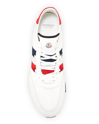 Image 2 of 3: New Horace Leather & Nylon Trainer Sneaker