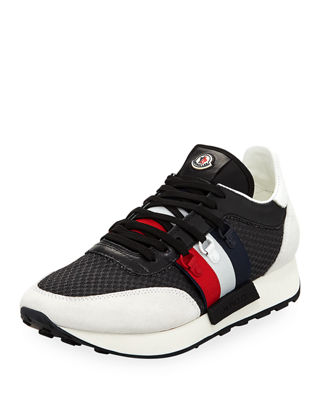 Moncler Mens New Horace Leather & Nylon Trainer Sneakers