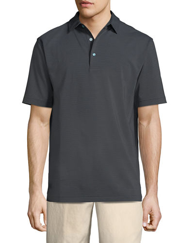 Halford Striped Stretch Jersey Polo Shirt