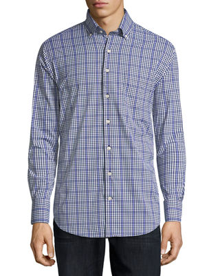 Collier Performance Plaid Long-Sleeve Sport Shirt