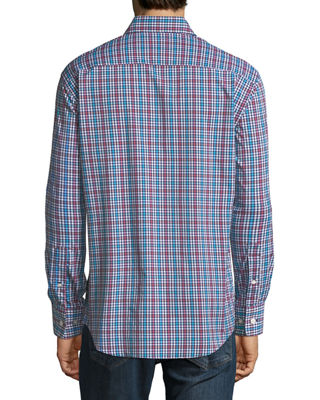 Image 3 of 3: Collier Performance Plaid Long-Sleeve Sport Shirt