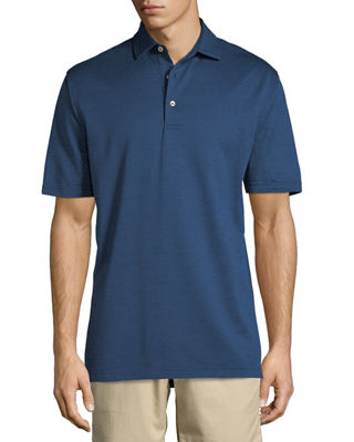 Image 1 of 2: Pleasant Pindot Jacquard Polo Shirt