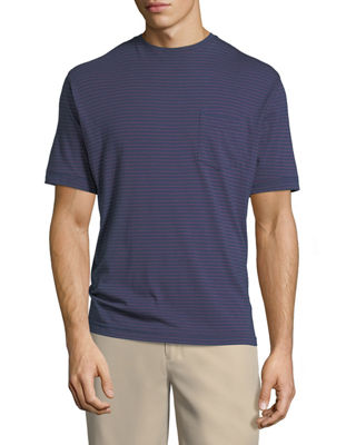 Peter Millar Seaside Striped Pocket T-Shirt