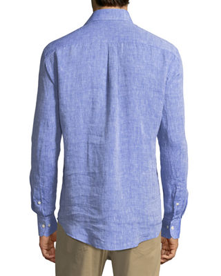 Image 2 of 2: Crown Cool Woven Linen Shirt