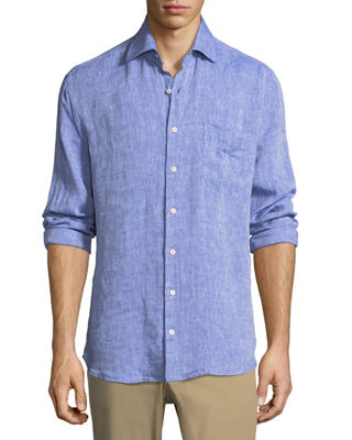 Image 1 of 2: Crown Cool Woven Linen Shirt