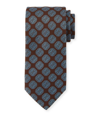 Charvet Spaced Medallion Silk Tie
