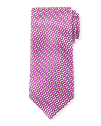 Graphic-Pattern Silk Tie