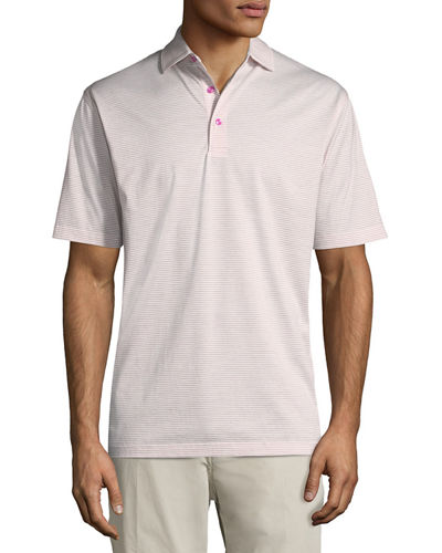Heritage Striped Nanoluxe Polo Shirt