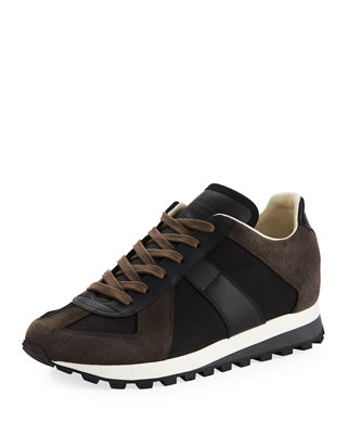 Men's Retro Runner Leather & Suede Sneaker