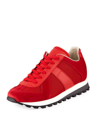 Image 1 of 3: Men's Retro Runner Leather & Suede Sneaker