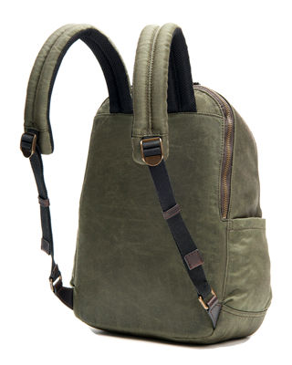 Image 2 of 3: Carter Leather-Trim Canvas Backpack