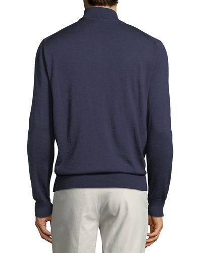 Merino Silk Quarter-Zip Sweater