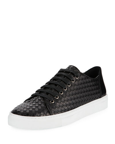 Alto Men's Textured Leather Lace-Up Sneaker