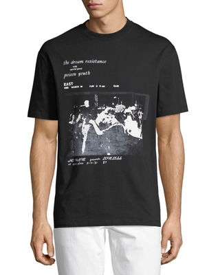 McQ Alexander McQueen Dropped Shoulder Graphic T-Shirt
