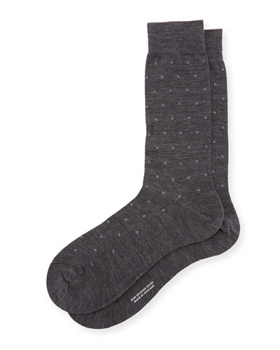 Banim Micro-Pattern Dress Socks