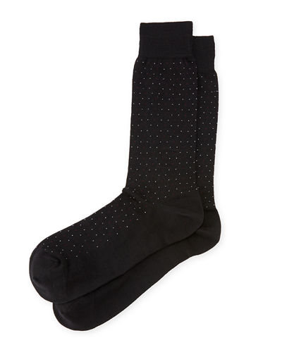 Wool Micro Dot-Print Socks