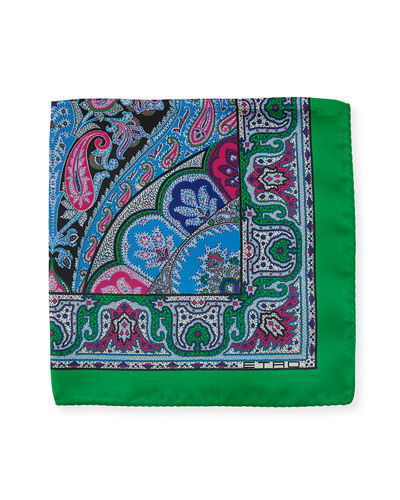 Etro Bangalore Pocket Square