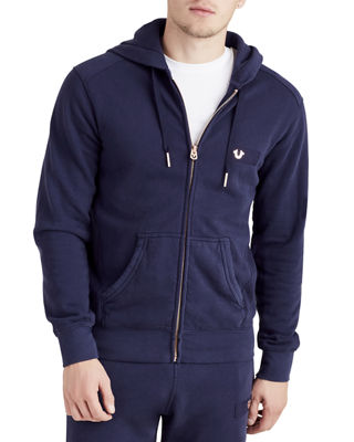 True Religion Horseshoe Patch Zip-Front Hoodie