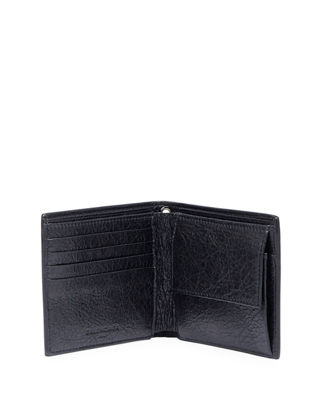 Image 3 of 3: Contrast-Lined Leather Chain Wallet