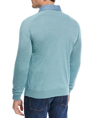 Image 2 of 2: Silk-Cashmere Crewneck Sweater