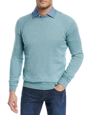 Image 1 of 2: Silk-Cashmere Crewneck Sweater
