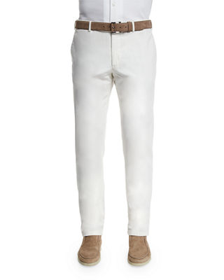 Image 1 of 4: Comfort Slim-Stretch Cotton Trousers