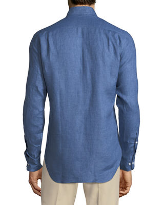 Image 2 of 2: Andrew Long-Sleeve Linen Shirt