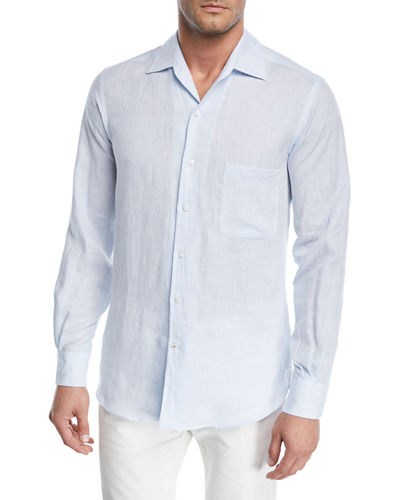 Andrew Long-Sleeve Linen Shirt