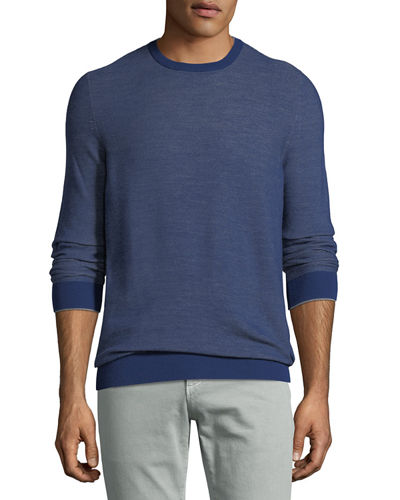 Lightweight Wool-Blend Crewneck Sweater