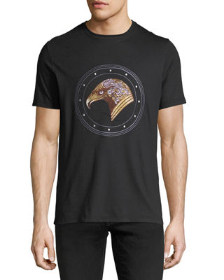Image 1 of 2: Stitched Eagle Graphic T-Shirt