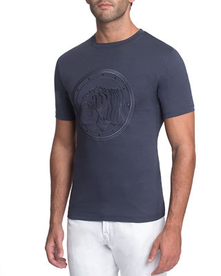 Embroidered Tiger Graphic T-Shirt