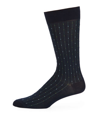 Pantherella Palmer Striped Cotton-Blend Socks