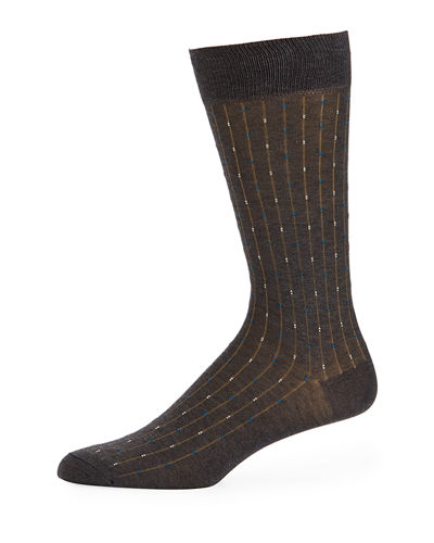 Palmer Striped Cotton-Blend Socks
