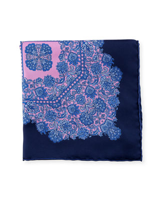 Luxe Paisley Pocket Square