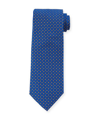Small-Floral Silk Tie