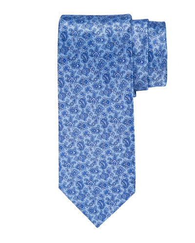 bf401a0b5f3d Quick Look. Stefano Ricci · Floral-Print Silk Tie. Available in Blue