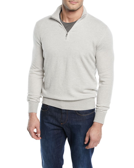 Image 1 of 2: Loro Piana Roadster 1/4-Zip Cashmere Sweater