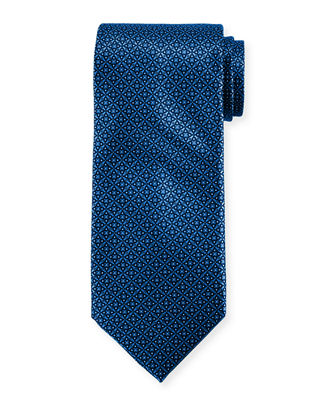 Matrix Pattern Silk Tie