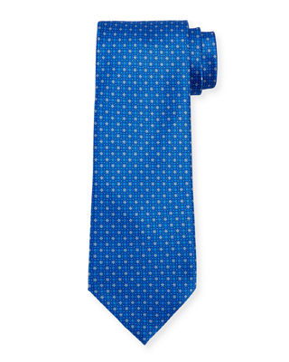 Small Medallion-Print Silk Tie