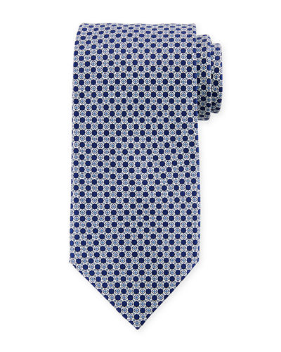 Medium Medallion Pattern Silk Tie