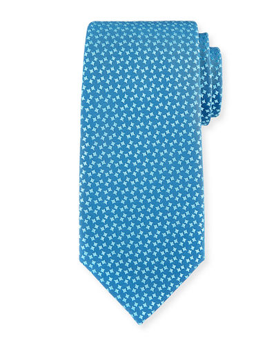 Charvet Abstract Box-Pattern Silk Tie