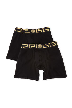Versace Two-Pack Greca Border Long Boxer Trunks