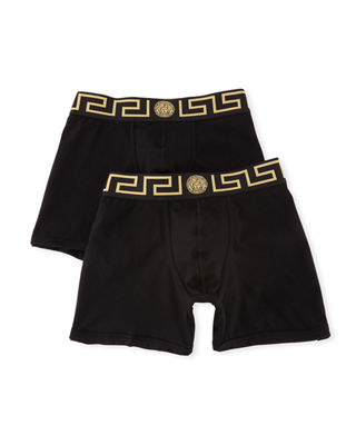 Versace Two-Pack Barocco Low-Rise Boxer Briefs