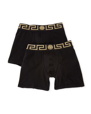 27adbb7acb3 Versace Two-Pack Barocco Low-Rise Boxer Briefs