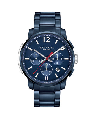 Coach 42mm Bleecker Chronograph Watch with Bracelet