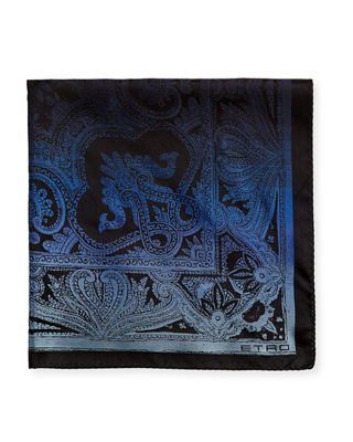 Etro Pochette Tinto Silk Pocket Square