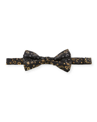 Etro Pre-Tied Patterned Silk Bow Tie