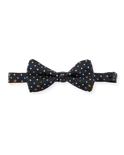 Pre-Tied Patterned Silk Bow Tie
