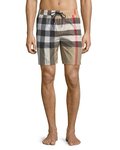 Burberry Check Guildes Swim Shorts