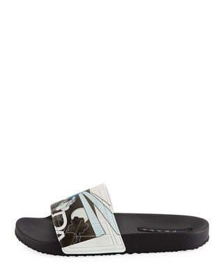 Image 3 of 3: Men's Graphic Rubber Slide Sandal